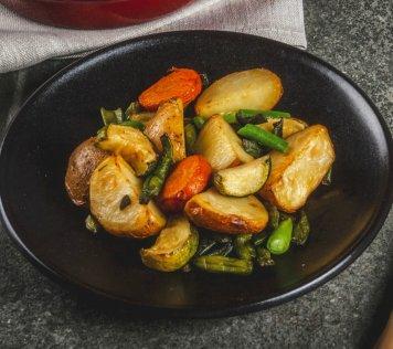 Gemüsepfanne mit Rosmarinkartöffelchen